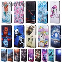 Fashion Leather Case For Xiaomi Redmi Note 8 Note8 Back Fundas Wallet Card Holder Stand Book Cover Panda Unicorn Cat Dog Painted Coque
