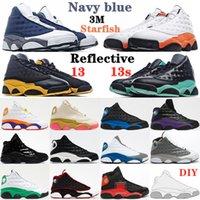 Sapatos de Basquete Homens Mulheres Retro Jumpman 13 13S Vermelho História História Flint Treinador Mens Treinador Mens Ao Ar Livre Sapatilhas de Esportes Com Diy Escolha