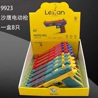 9923 sand Eagle Electric Gun vibration Le fan small expert toy music electric flash gun