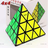 Qiyi xmd mofanggo ماجيك لغز الهرم 4x4 pyramorphix 4 * 4 stickerless 4 وجوه ماجيك مكعب التعليمية تويست الحكمة لعبة لعبة هدية