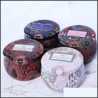 Décor Home & Gardenscented Candle Jar Empty Metal Small Round Tin Box Tinplate Diy Handmade Candles Tea Candy Chocolate Storage Boxes Drop D