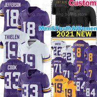 "18 Justin Jefferson Jersey 33 Dalvin Cook 19 Adam Thielen Harrison Smith Patrick Peterson Kirk Cousins Football Minnesota ""Viking"" Cris Carter C.j. Ham Chad Beebe"