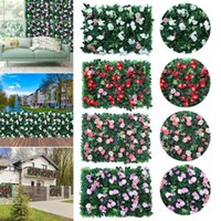 Fencing, Trellis & Gates 3PCS Artificial Grass Plant Wall Fake Flower For Landscape Fence Wedding Backdrop Home Outdoor Garden Decor Simulat