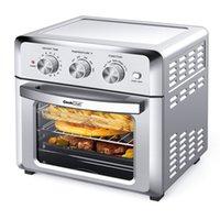 Geek Chef Air Fryer Torradeira, 19QT Convection AirFryer Bancer Forno com 4blades, aquecimento, fritura sem óleo, cozinhar 4 acessórios incluídos, aço inoxidável, 1500W.