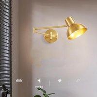 Duvar Lambaları Endüstriyel Siyah Okuma Lambası Yatak Odası Başucu E27 Tutucu Metal Aplikler Salıncak Kol LED Işık Çalışma El Bar