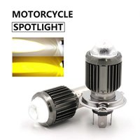 6000k H4 BA20D Super Bright Bright Лампы противотуманные огни Мотоцикл Фара Линса Лампа Скутер Whit Yellow Moto LED CSP ATV Аксессуары Автомобиль