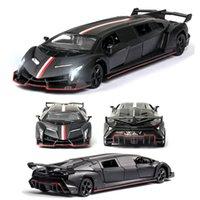 132 Lamborghinivenico Auto Modello Auto Auto Auto Die Cast Toy Car Modello Tirare indietro per bambini Giocattolo Collezionismo