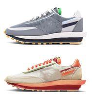 2021 Otantik 2.0 Clot X SACAIS Ayakkabı Serin Gri Parçası LDWaffle LDV Vaporwaffle Susam Siyah Beyaz Yeşil Mavi Kırmızı Eğitmenler Erkek Kadın Açık Spor Sneakers