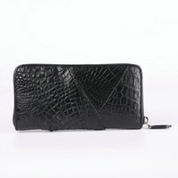 Siamese Crocodile Leather Handbag Cute Mens Wallet Long Business Casual For Men With Claw Coin Money Purse Luxury Wallets