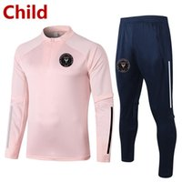 2021 INTER MIAMI CF Bambini Soccer Training Suit Bambini Soccer Tracksuits Set Kit Sport Felpa Sportiva Set di allenamento giovanile Set da uomo Tutte da uomo