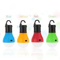 5 cores tenda ao ar livre à prova d 'água de acampamento esférico 3led gancho portátil luz mini emergência camping sinal luz rrb9004