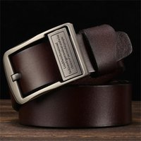 Belts High Quality Genuine Leather Luxury Strap Male For Men Fashion Classice Vintage Pin Buckle Cow Jeans Belt