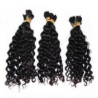 Fábrica direta solta onda profunda Bulk cabelo 3 pacotes lote tecer bom cabelo cabelo peruano cabelo humano