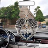 Interior Decorations Angel Star Wing Charm Car Pendant Automobiles Rearview Mirror Suspension Decoration Accessories Hanging Gifts