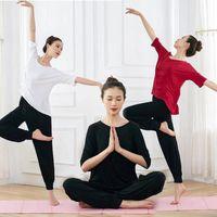 Eşofmanlar Bahar ve Yaz Modern Uygulama Kadın Modal Ulusal Yoga Öğretmen Vücut Dans Elbise Büyük Boyutu