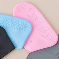Многоразовые водонепроницаемые силиконовые туфли обложки Унисекс дождь нежилые ботинки нескользящие перерывы толстые износостойкие портативный открытый дождь полезны 970 R2