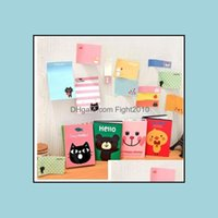 Supplies Office Business & Industrialnotes Notepads 180 Pages Sticker Mini Animal Sticky Notes 4 Folding Memo Pad School Stationery Drop Del