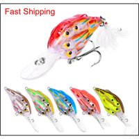 Baits Lures Fishing Sports Outdoors Drop Delivery 2021 Abs Plastic Wobbler Laser Bass Lure 11Cm 12Dot5G Live Target Lifelike Fish Swimbaits F