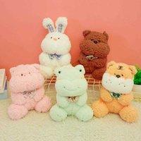 23CM Cute Dream Series Brown Pink Sleeping Teddy Bear Rabbit Cartoon Stuffed Animal Toy Comfortable Soft Baby Pillow Birthday Present
