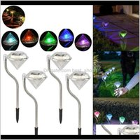 ESTERNO Solar Solad Lampada Percorso Lampadari Lampade Led LED Diamond Lawn Light Pathway Decorazioni giardino LJA2437 BBI1Y NH3V5
