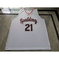34213421Rare jersey de basquete homens juventude mulheres vintage # 21 rudy gay arcebispo spalding High School College tamanho s-5xl personalizado todo nome ou número