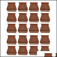 Chair Sashes Textiles Home & Gardenchair Ers 24Pcs Leg Caps Square,Chair Protectors For Hardwood Floors,Sile Table Floor With Felt Pads Drop
