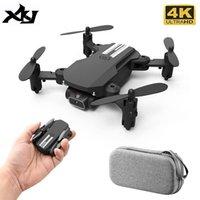 XKJ Mini 4K UAV con fotocamera HD 2021 P, Pieghevole a quattro ruote motrici, WiFi, FPV, pressione dell'aria, tenuta altezza, nero e grigio, giocattolo, 1080