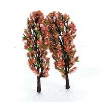 20 pcs Set 8.5cm Train Layout Modelo Flor Árvores Rua Park Cenário Escala 1: 200 Decorações de Jardim