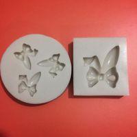 Stampi da forno Strumenti torta Auricolari di Pasqua Ear Farfalla Arco Stampi in silicone Decorazione Cupcake Gupaste Fondant Tool Stampo