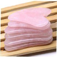 Natural Gua Sha Scraper Board Massage Rose Quartz Guasha Stone For Face Neck Skin Lifting Wrinkle Remover Beauty Care Hand Tools