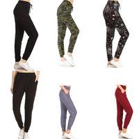 Pantaloni yoga Pantaloni da donna Stampato solido Activewear Solid Jogger Track Polsello Sweatspants Casual Pant