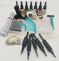 2021 Kit39 Kits de pistolas de tatuaje completo con 2 unids Tipos Diferentes Tipos Pistola Rotary Machine y 7bottles 15ml Pigmento de tinta Pigmento Piel Piel de plástico Tops Topes O-Rings Ajuste Herramienta