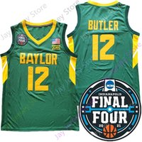 2021 Final Four 4 Baylor 농구 저지 NCAA 대학 녹색 12 자레드 버틀러 크기 S-3XL