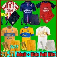 남성 키트 2021 멕시코 클럽 티그 UANL 축구 유니폼 셋째 Gignac 21 22 Liga MX 115 Chivas Guadalajara Camisas de Futebol Football Shirts