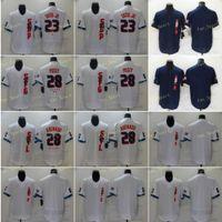 2021 All Star 23 Fernando Tatis Jr Baseball Jerseys 28 Nolan Arenado 28 Posey Cool Base Flexbase White Blue Stitched