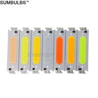12V Modulo LED Cob Light Source Colorful 60 * 15mm 2W DC12-24V DIY Chip Lampadina Lampadina 6cm Bianco rosso blu Verde Moduli viola