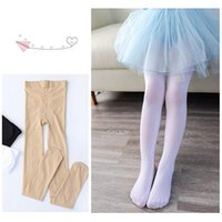 Socks Summer Spring Candy Color Kids Pantyhose Ballet Dance Tights For Girls Stocking Children Velvet Solid White Leg Warmer
