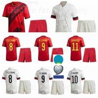 2020-2021 Avrupa Kupası Futbol 20 Christian Benteks Jersey Set Ev 23 Michy Batshuayi 7 Kevin De Bruyne 6 Axel Witsel Futbol Gömlek Setleri 2022 Euro Yama
