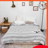 Geometry Blanket Throw Soft Sofa Bed Cover Breathable Blankets Cotton Comforter Summer Quilts Quilted Bedspread