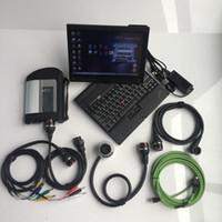 I lettori di codice Strumenti di scansione MB STAR STAR C4 Scanner con SSD 2021.06 Software in Laptop X200T PC WiFi Supporto per veicoli SD diagnostico intero CONN