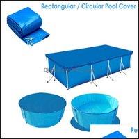 Havuz Su Sporları Outdoorspool Aessories Rectrangar ER Tarpain Güneş Yüzme Koruma Yağmur Geçirmez Bez Isı Işletme Filmi Yüzmek Drop D