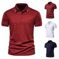 Homme's Polos 2021 Mode d'été Mode Casual Bateau Décontracté Imprimer Tapis Slim Slim Business Sleeve Shirt