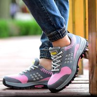 Boots Women's Fashion Breathable Safety Shoes Worker Steel Toe Caps Shoe Summer Security Work Zapatos Seguridad Indestructible