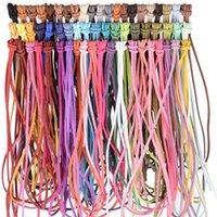 5 yards / lot 3mm flache faux wildleder geflochtene schnur koreanische samt leder handgefertigte perlen armband schmuck machen thread string seil 1217 q2