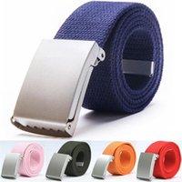 Belts Mens Fashion Unisex Trousers Canvas Belt Breathable Outdoor Tactical For Jeans Adjustable Waist 140cm