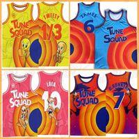 Space Jersey Maine Male Tune Squad Lebron 1/3 Tweety 6 James Mens 10 Lola Bunny 7 R.runner Баскетбол 2 Д.Дук 23 Майкл! Taz Bugs Bunny.