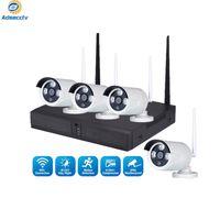 4CH 무선 NVR 키트 실제 플러그 앤 플레이 IP WIFI 방수 카메라 CCTV 비디오 Survillance System 홈 보안 세트 AS-NVK-901EK