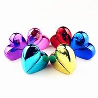 6pcs / lot 25ml Bottiglie di vetro a forma di cuore con spray Atomizzatore di profumo vuoto riutilizzabile per le donne 6Colors