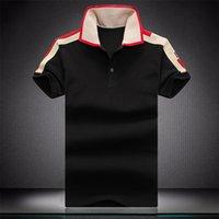 Moda Mens Polo T Shirt Snake Embroidery Polos Ape Stripe Stripe Uomo High Street Casual Horse Tees Tops Dimensione M-XXXL