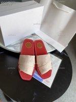 chloe flip flop Sandalet Yaz Marka Kadın Moda Peep Toe Açık Düz Terlik Kadın Mektuplar Elastik Çapraz Bez Tatil Rahat